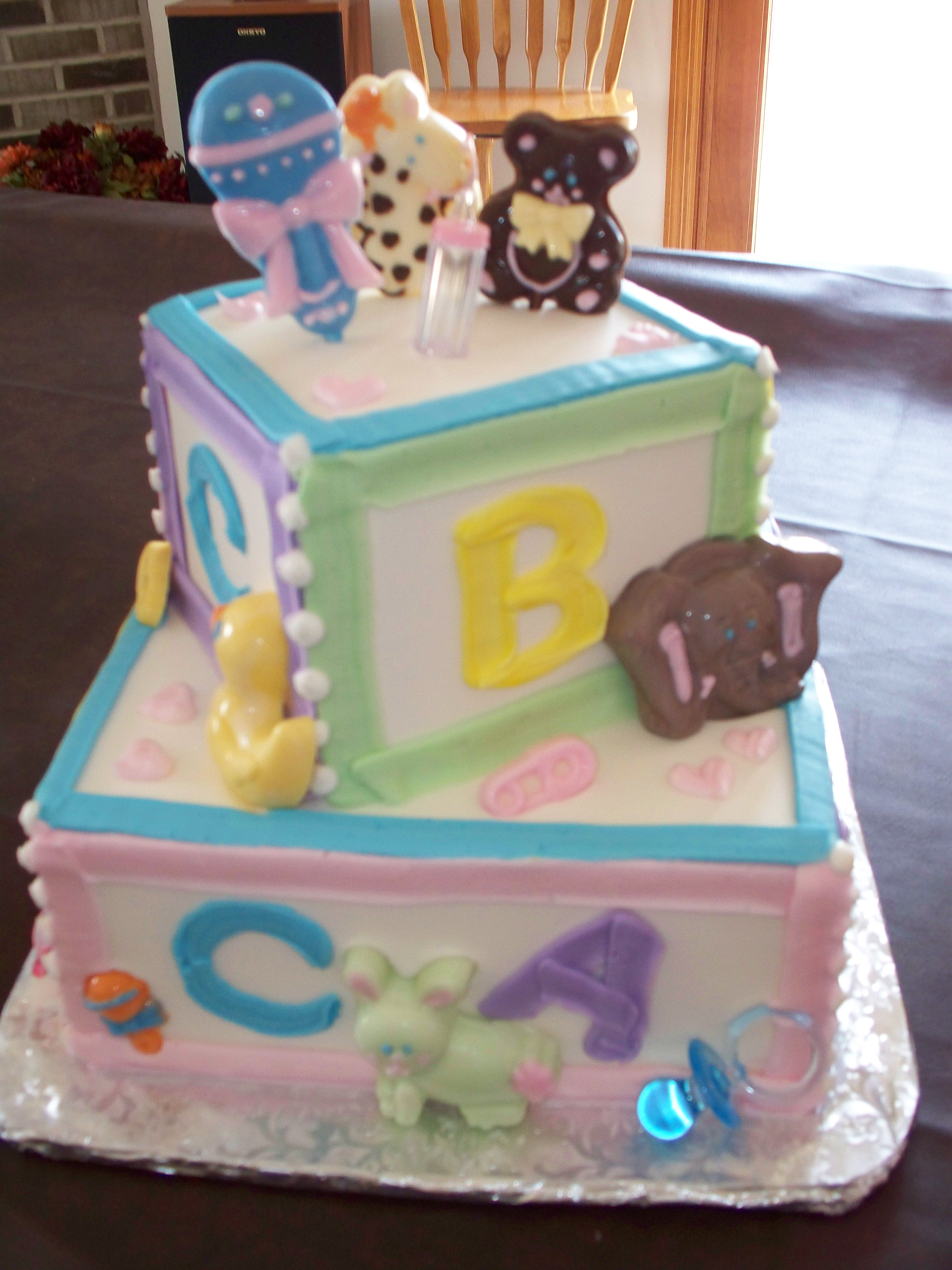 Baby Block Cake Images : Cake images, Sheet cakes and A girl on Pinterest